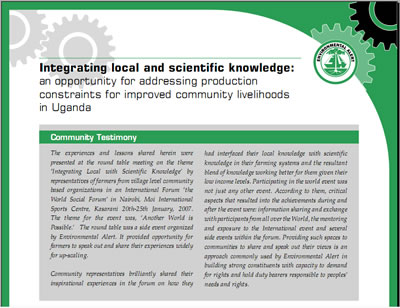 Integrating local with scientific knowledge