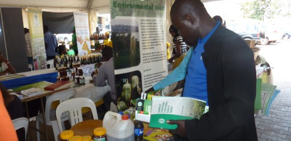 1100189 A guest picking publications of EAs works during the 6th National Honey Week